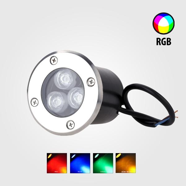 Lámparas LED RGB Empotrable 3w
