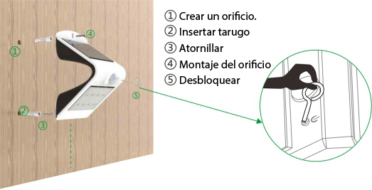 Instalación Lampara LED de Pared Solar