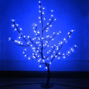 Arbol LED 8W 192 LEDS Azul