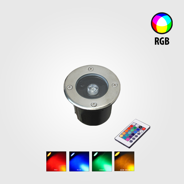 LÁMPARA LED EMPOTRABLE PARA PISO 1W RGB
