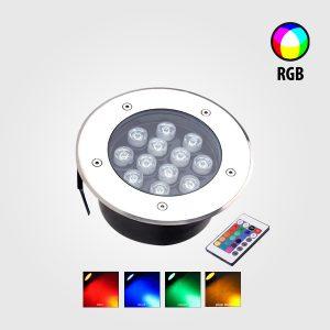 LÁMPARAS LED RGB EMPOTRABLE 12W
