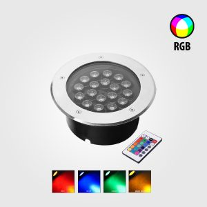 LÁMPARA LED EMPOTRABLE PARA PISO 18W RGB