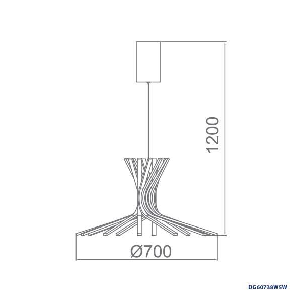 LAMPARAS DECORATIVAS COLGANTE 13x12W
