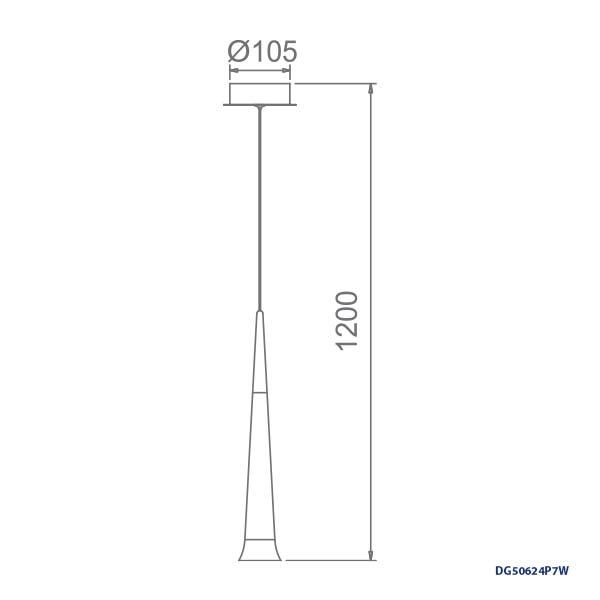 LAMPARAS LED DECORATIVAS COLGANTE 7W