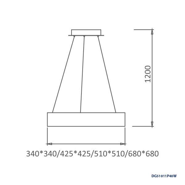 LAMPARAS LED DECORATIVAS COLGANTE 40W