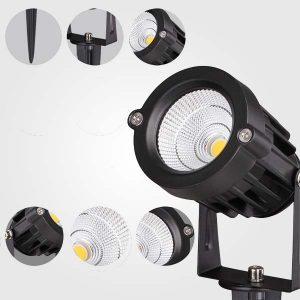 REFLECTORES LED 5W CON ESTACA
