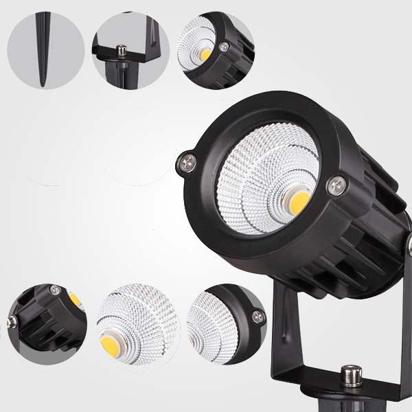 REFLECTORES LED 5W CON ESTACA
